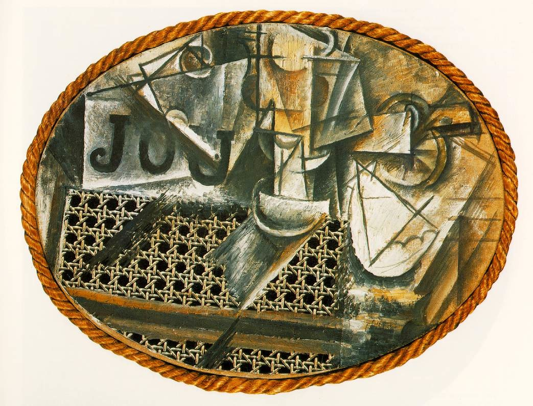 Picasso quot still life with chair caning quot 1912